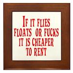 Cheaper To Rent Framed Tile