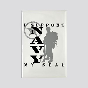 Seal Proudly Serves - NAVY Rectangle Magnet