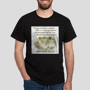 Gandhi Animal Quote ~ T-Shirt
