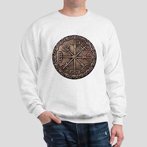 Brass Vegvisir - Viking Compa Sweatshirt