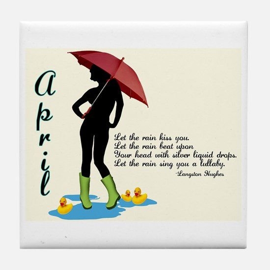 April Tile Coaster