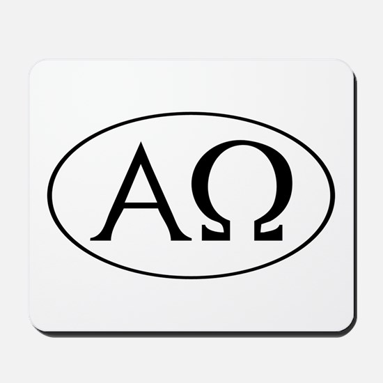 Alpha and Omega Mousepad