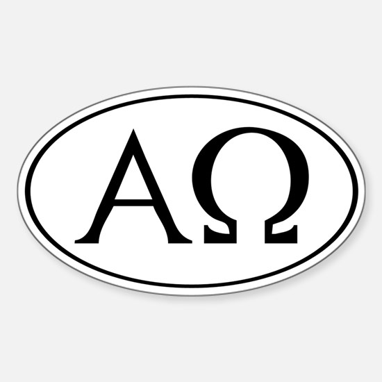 Alpha and Omega Oval Decal