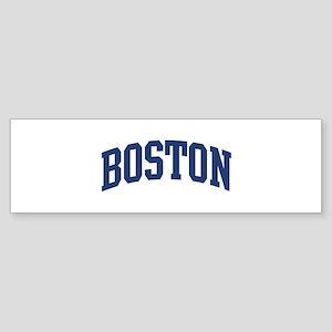 BOSTON design (blue) Bumper Sticker