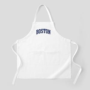 BOSTON design (blue) BBQ Apron