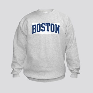 BOSTON design (blue) Kids Sweatshirt