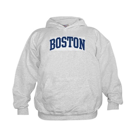 BOSTON design (blue) Kids Hoodie