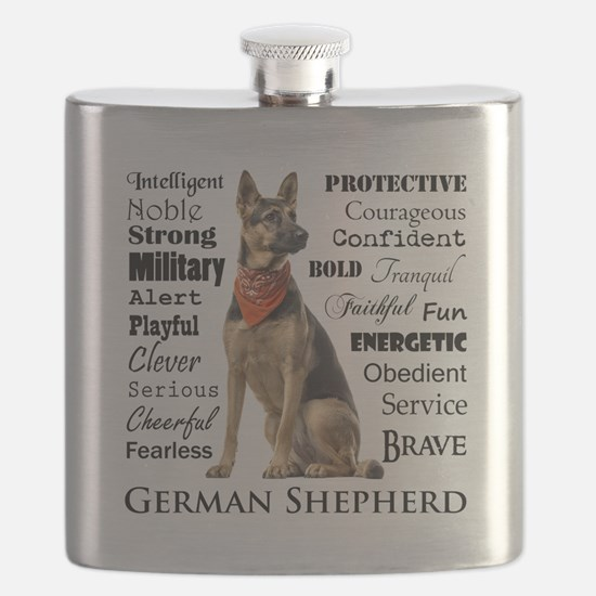 German Shepherd Traits Flask