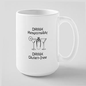 Drink Responsibly Gluten-Free Large Mug Mugs