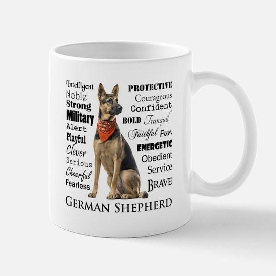 German Shepherd Traits Mugs