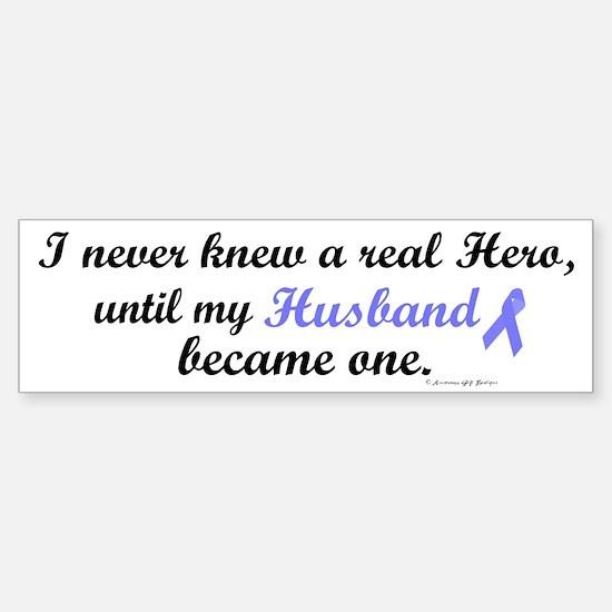 Never Knew A Hero (Husband) Bumper Bumper Bumper Sticker