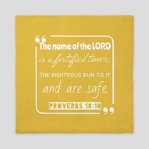 Proverbs 18:10 Bible Verse Queen Duvet