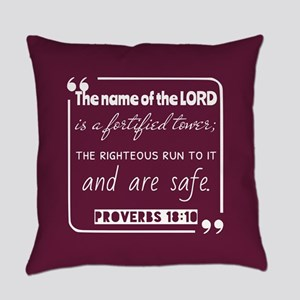 Proverbs 18:10 Bible Gateway Everyday Pillow