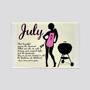 July Rectangle Magnet