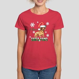 Holiday Dachshund Women's Dark T-Shirt