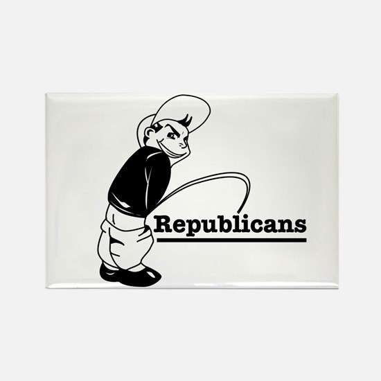 Piss on Republicans Rectangle Magnet (100 pack)