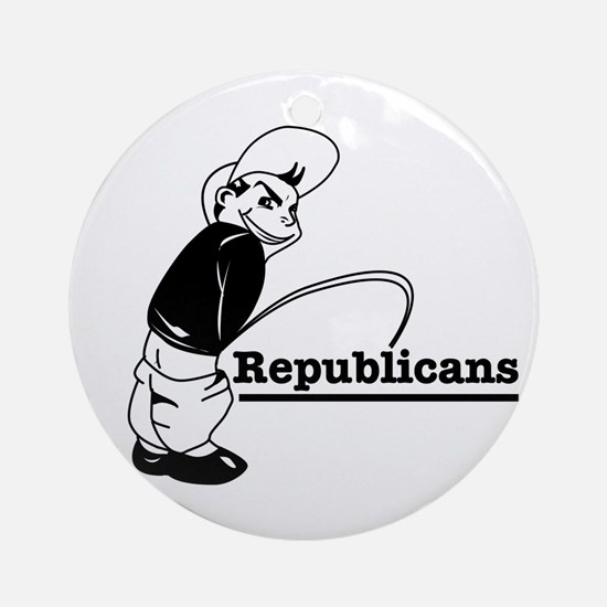 Piss on Republicans Ornament (Round)