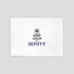DEPUTY I cant keeep calm 5'x7'Area Rug