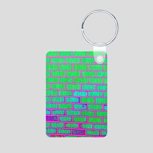 Urban Neon Brick Wall Keychains
