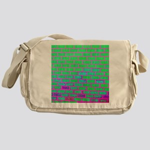 Urban Neon Brick Wall Messenger Bag