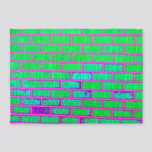 Urban Neon Brick Wall 5'x7'Area Rug