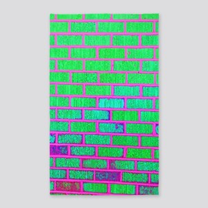 Urban Neon Brick Wall Area Rug