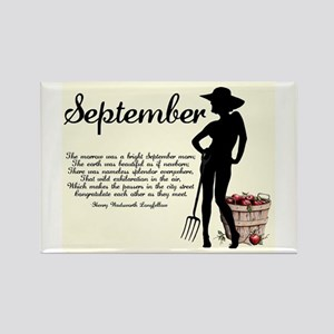 September Rectangle Magnet