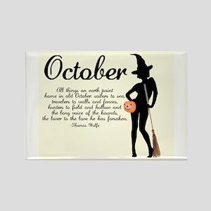October Rectangle Magnet