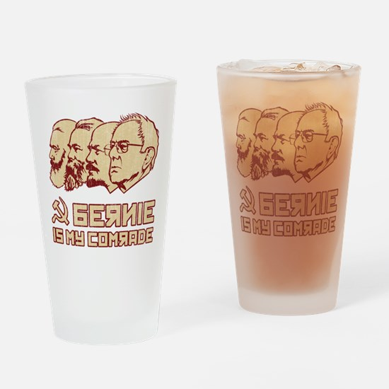 Bernie Is My Comrade Drinking Glass