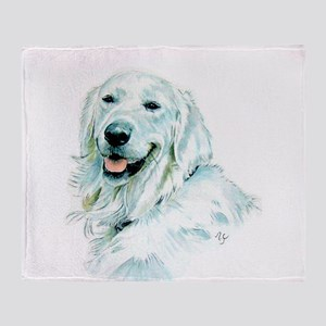 English Retriever Throw Blanket