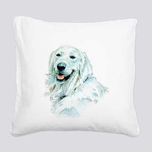 English Retriever Square Canvas Pillow