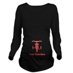 Personalize Tricycle Long Sleeve Maternity T-Shirt
