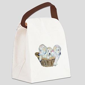 Golden Retriever Pups Canvas Lunch Bag