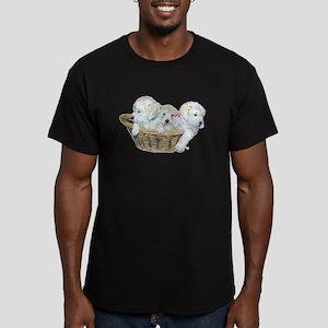 Golden Retriever Pups Men's Fitted T-Shirt (dark)