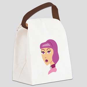 Spider Lady Canvas Lunch Bag