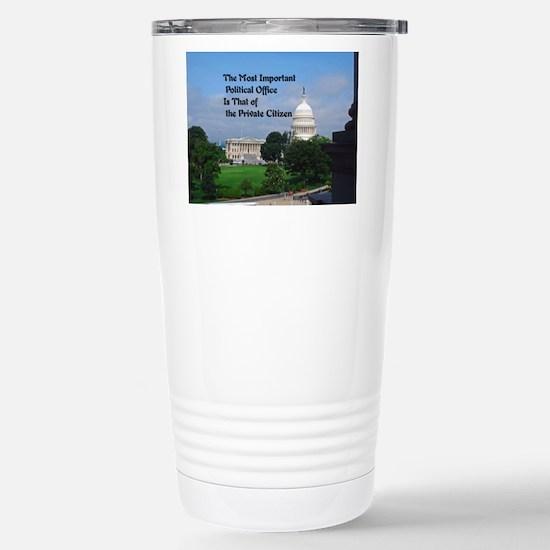 Political Office Stainless Steel Travel Mug