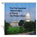 Political Office Shower Curtain