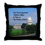 Political Office Throw Pillow