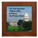 Political Office Framed Tile