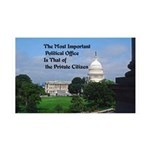Political Office 35x21 Wall Decal