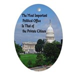 Political Office Oval Ornament