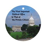 Political Office Round Ornament