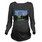 Political Office Long Sleeve Maternity T-Shirt