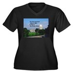 Political Of Women's Plus Size V-Neck Dark T-Shirt