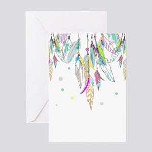 Dreamcatcher Feathers Greeting Cards