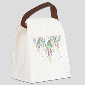 Dreamcatcher Feathers Canvas Lunch Bag