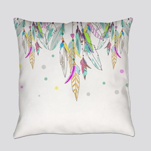 Dreamcatcher Feathers Everyday Pillow