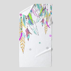 Dreamcatcher Feathers Beach Towel