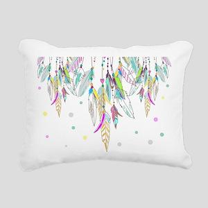 Dreamcatcher Feathers Rectangular Canvas Pillow