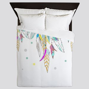 Dreamcatcher Feathers Queen Duvet
